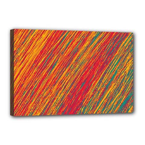 Orange Van Gogh pattern Canvas 18  x 12