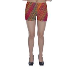 Orange Van Gogh pattern Skinny Shorts