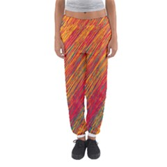 Orange Van Gogh Pattern Women s Jogger Sweatpants