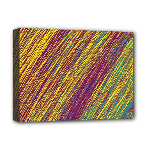Yellow, purple and green Van Gogh pattern Deluxe Canvas 16  x 12
