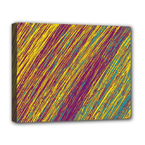 Yellow, purple and green Van Gogh pattern Deluxe Canvas 20  x 16