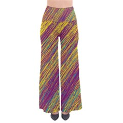 Yellow, purple and green Van Gogh pattern Pants