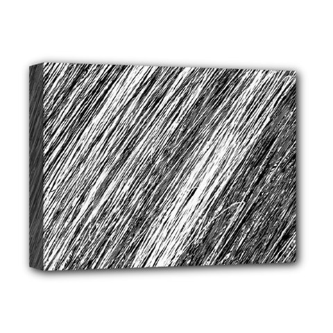Black and White decorative pattern Deluxe Canvas 16  x 12