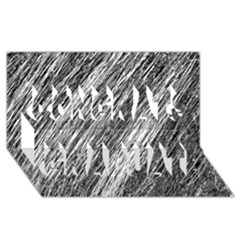 Black and White decorative pattern Congrats Graduate 3D Greeting Card (8x4)