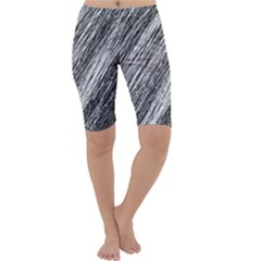 Black and White decorative pattern Cropped Leggings