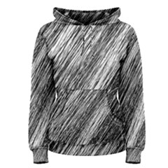 Black and White decorative pattern Women s Pullover Hoodie
