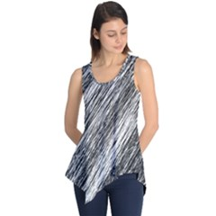 Black And White Decorative Pattern Sleeveless Tunic