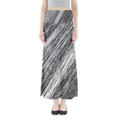 Black and White decorative pattern Maxi Skirts