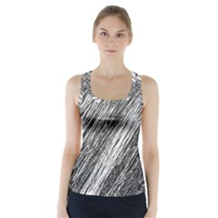 Black And White Decorative Pattern Racer Back Sports Top