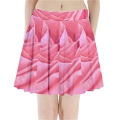 Pleated Mini Mesh Skirt