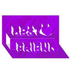 Purple pattern Best Friends 3D Greeting Card (8x4)