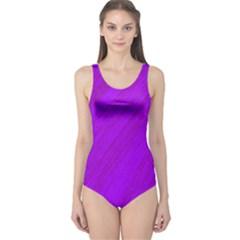 Purple pattern One Piece Swimsuit