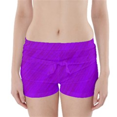 Purple pattern Boyleg Bikini Wrap Bottoms
