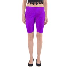 Purple pattern Yoga Cropped Leggings
