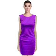 Purple pattern Classic Sleeveless Midi Dress