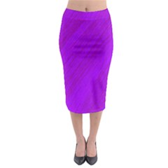 Purple pattern Midi Pencil Skirt