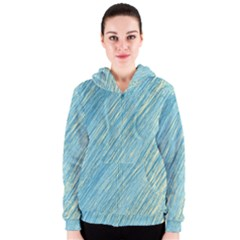 Light blue pattern Women s Zipper Hoodie