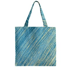 Light blue pattern Zipper Grocery Tote Bag