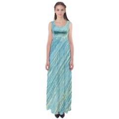 Light blue pattern Empire Waist Maxi Dress