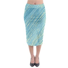 Light blue pattern Midi Pencil Skirt