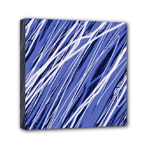 Blue elegant pattern Mini Canvas 6  x 6