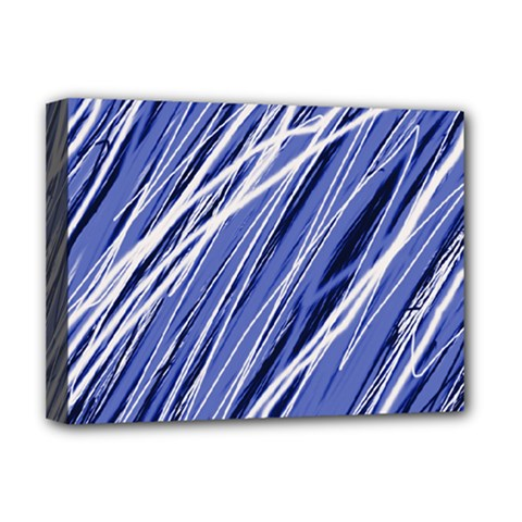 Blue elegant pattern Deluxe Canvas 16  x 12