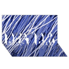 Blue elegant pattern BEST BRO 3D Greeting Card (8x4)