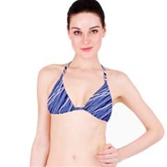 Blue elegant pattern Bikini Top