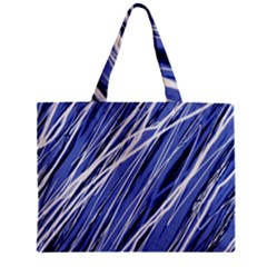 Blue elegant pattern Zipper Mini Tote Bag