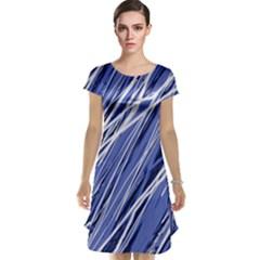 Blue elegant pattern Cap Sleeve Nightdress