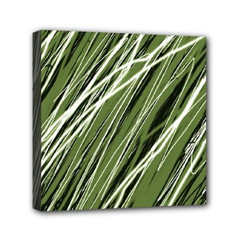 Green decorative pattern Mini Canvas 6  x 6