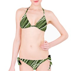 Green decorative pattern Bikini Set