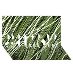 Green decorative pattern #1 MOM 3D Greeting Cards (8x4)