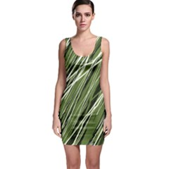 Green decorative pattern Sleeveless Bodycon Dress