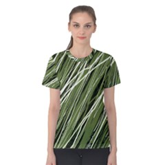 Green decorative pattern Women s Cotton Tee