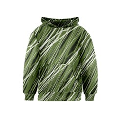 Green decorative pattern Kids  Pullover Hoodie