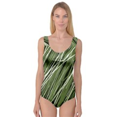 Green decorative pattern Princess Tank Leotard