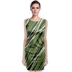 Green decorative pattern Classic Sleeveless Midi Dress