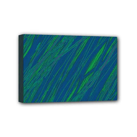 Green pattern Mini Canvas 6  x 4
