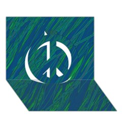Green pattern Peace Sign 3D Greeting Card (7x5)