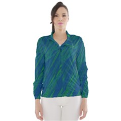 Green pattern Wind Breaker (Women)