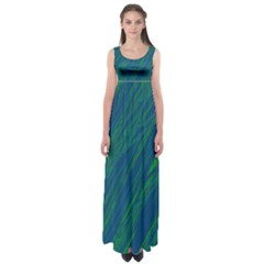 Green pattern Empire Waist Maxi Dress
