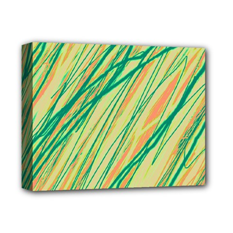 Green and orange pattern Deluxe Canvas 14  x 11
