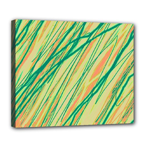 Green and orange pattern Deluxe Canvas 24  x 20