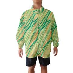 Green And Orange Pattern Wind Breaker (kids)