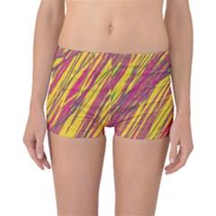 Orange pattern Boyleg Bikini Bottoms