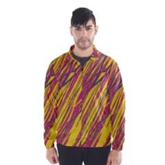 Orange pattern Wind Breaker (Men)