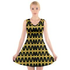 Art Digital (15)g V Neck Sleeveless Skater Dress