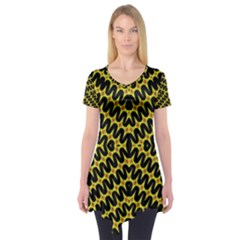 Art Digital (17)ghh Short Sleeve Tunic