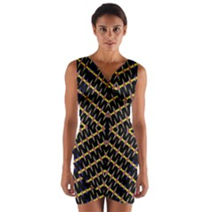 One Speed Wrap Front Bodycon Dress